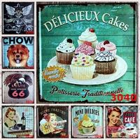 30pcs/lot Dog coffee Cake Motorcycle Route US 66 bar Beer