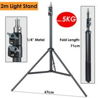 ightpro Heavy Duty Metal 2m Light Stand Max Load 5KG Tripod for Photo Studio Softbox