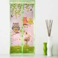 Durable Anti Mosquito Magnetic Tulle Door Curtain Animal Printed Curtain Summer Mosquito Mesh Net Magnet Curtains Door Screen