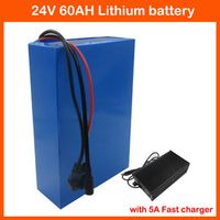 CYGEREEN 1200W Lithium ion battery 60AH Electric Bike battery 24V Motorcycle