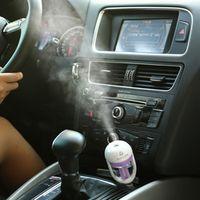 Nanum Mini 12V Air Purifier Car Steam Humidifier Aroma Essential Oil Diffuser