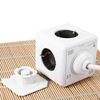 1 Piece All Occasion Fashion Safety  Extended Power Cube Socket DE Plug 4 Outlets Dual USB Ports Adapter With 3m Cable
