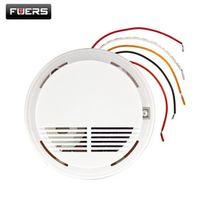 Wired Smoke/fire Detector Home Security Smoke Detector Alarm Sensor For GSM PSTN Burglar Alarm System