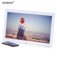 "Andoer 10"" HD LCD Digital Photo Frame 1024*600  MP3 MP4 Music Player Movie Player E-book Calendar Clock with Remote Controller"