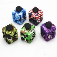 Andralyn Fidget Cube Silicone Buttons Camouflage Magic