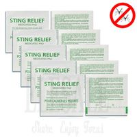 10-50-100pcs Sting Relief Medicated Pad Mosquito Sting itching Relief  Disposable Mosquitoes Bite Anti-itch Pad For Outdoor Camp