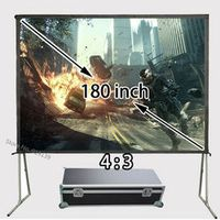 Kingprints Professional Factory HD Projection Screen 180 inch 4:3 Front Matt White