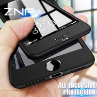 ZNP 360 Degree Full Cover 6 Plus 6s With Tempered Glass Cases For iphone 8 7
