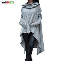 YANMUXI Gray Black Women Long Sleeve