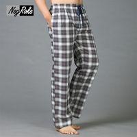 Plus size Spring 100% cotton mens sleep bottoms pajama simple sleepwear pants pijamas for male sheer mens pants pyjama trousers