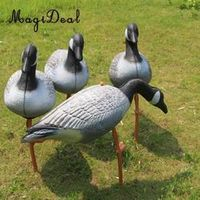 MagiDeal XPE Simulation Bait Hunting Decoy Lawn Ornaments Resting Goose