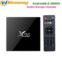 Europe Receiver Smart tv box X96 with 1 year QHDTV french support VOD movies Africa