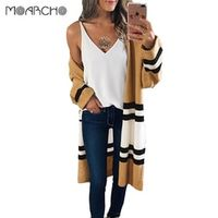 MOARCHO Long Sleeve Knitted Autumn Winter Casual Women