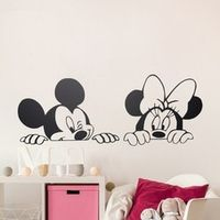 coolife Cartoon Mickey Minnie Mouse Vinyl Wall stickers