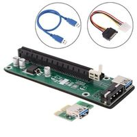 docooler USB 3.0 PCI-e express 1x to 16x Extender Riser Card with SATA Power Supply