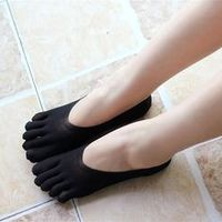 Thefound Funny Five Finger Toe Women Slippers Invisibility
