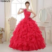 YIDINGZS Romantic Colorful Organza line Quinceanera Dresses