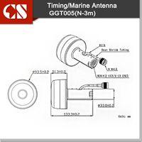 Smmnas 118.11in Marine receiver antenna for Chartplotter Raymarine Lowrance Active