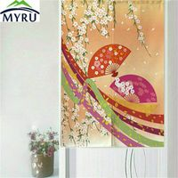 MYRU Classical Japan Style Flowers Series Door Curtain  Household Geomantic Curtain 85x150cm