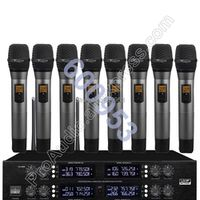 MICWL Wireless Radio Digital Microphone System - with 8 Handheld Sets for Stage