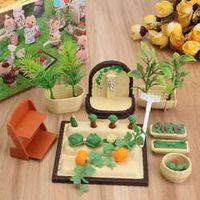 Ornaments Families Miniature Vegetable Garden Set Kids