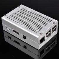 UNISTORM Raspberry Pi 3 Aluminum Silver Case Metal Enclosure for RPI 3 Model B