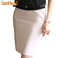 2016 Autumn Winter Women Skirts Office Formal Pencil Skirts Casual Sexy Slim High Waist Knee-Length Midi Skirt Saia Plus Size