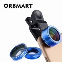 ORBMART 3 in 1 Mobile Phone Fish Eye 198 degree Macro 15X 0.63X Wide Cellphone Lens