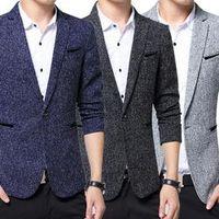 2017 Fashion Men Slim Fit Blazer Suit Jacket Blazers Coat Office Casual Wear Tops Plus Size 5XL  FS99