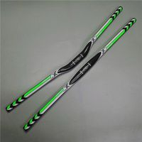 PuraRaza Ec90 bicycle put ultra-light full carbon fiber yanerwo 3k GREEN HANDLEBAR