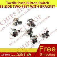 KOKY 1LOT 50PCS Tactile Push Button Switches Side Two Feet