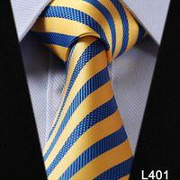 "Stripe Check Paisley 3.4"" 100%Silk Mens Ties Wedding Jacquard Woven Men Classic  Man's Tie Necktie #L4"
