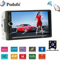 "Podofo Autoradio Car Radio 2 Din 7"" LCD Touch Multimedia Player Stereo Bluetooth"