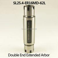 DVT 1PCS Double ER16 collet tool holder Straight Shank SL25.4-ER16MD-62L Double-Ended