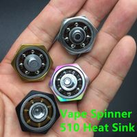Vape Spinner New Fidget Spinner fit 510 thread Box Mechnical Mod Electronic Cigarettes 510 Heat Dissipation Heat Sink 50PCS/LOT