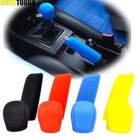 2Pc Auto Manual Silicone Shift Gear Head Knob Handbrake Hand Brake Covers Sleeve Case