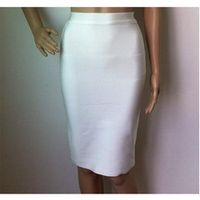 2014 new sexy women Fashion Luxury midi evening Party bandage Skirts  blue white red black yellow purple hot pink