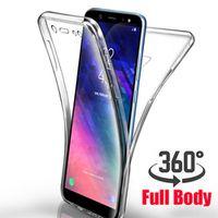 FRVSIMEM 360 Degree Case for Samsung Galaxy A6 A8 Plus 2018 A750 S6 S7 edge S8 s9