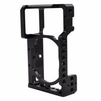 Aluminum Alloy Camera Cage Video Camera Cage Protective Frame for Sony A6500 ILDC Camera to Mount Tripod Light