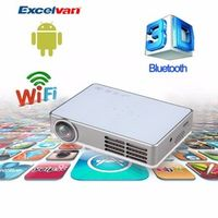 Excelvan LED9 Android 4.4 DLP Wifi Projector Miracast /Full 3D/ 1080p Reader/App