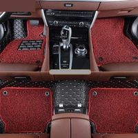 LVZHIQI Auto Floor Mats For Peugeot 308 2012.2013.2014.2015 Foot Embroidery Leather