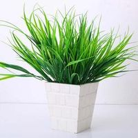 1 Pc New Style Clover Plant 7-Fork Green Grass Artificial Plants For Plastic Flowers Household Store Best Decoration