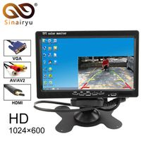 Sinairyu 7 inch TFT LCD Bright Color Car Rear View HDMI Interface AV VGA Auto