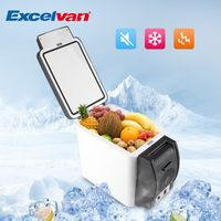 Excelvan Mini Car Fridge 12V 6L Auto Travel Refrigerator ABS Home Cooler Freezer
