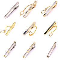 XKZM 18 Styles Formal Men's Necktie Tie Clip Pin Skinny Glossy Clasp Tie Bar Wedding Slim Tie Clips For Men Suits Accessories