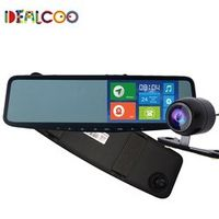 Dealcoo 5' IPS GPS Navigation Bluetooth Android 8GB Car DVR Rearview Mirror Monitor