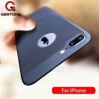 GerTong Ultra Slim Phone Case 6 6s 7 8 Plus Hollow For iPhone 5 5S SE X MAX