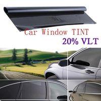 100*50cm Universal Dark Black Window Tint Film Glass VLT 20% Roll 1 PLY Car Auto