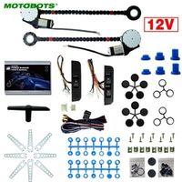 MOTOBOTS 12V Car Universal 2-Doors Electric Power Window Kits with 3pcs/Set Moom