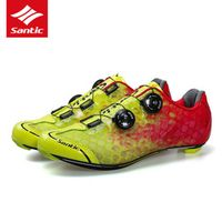 Santic Road Cycling Shoes Ultralight Carbon Fiber Bike Shoes PRO Breathable Nano